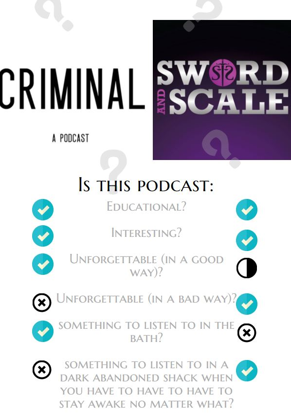 Criminal - best crime podcast - Sword and Scale